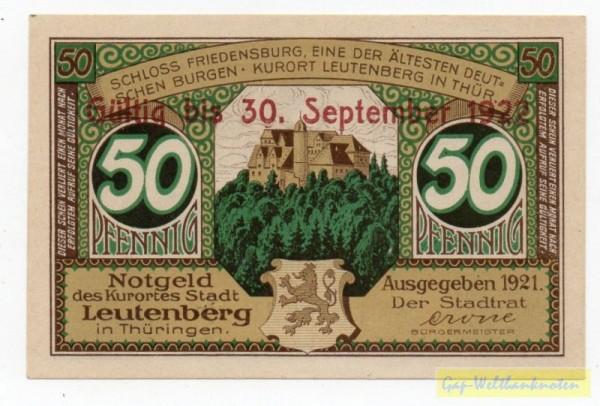"""1921, Üdr. """"Gültig bis 30. September 1922"""" - (Sie sehen ein Musterbild, nicht die angebotene Banknote)"""