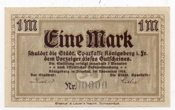 11/18, Reststück KN schwarz, ohne KN - (Sie sehen ein Musterbild, nicht die angebotene Banknote)