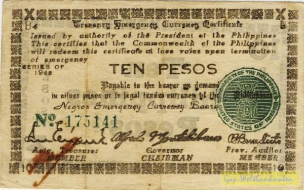 """1943, """"3"""" klein, B4 - (Sie sehen ein Musterbild, nicht die angebotene Banknote)"""