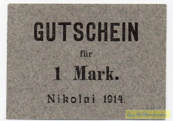 1914 - (Sie sehen ein Musterbild, nicht die angebotene Banknote)