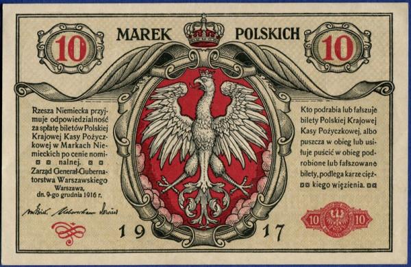 1917, A - (Sie sehen ein Musterbild, nicht die angebotene Banknote)