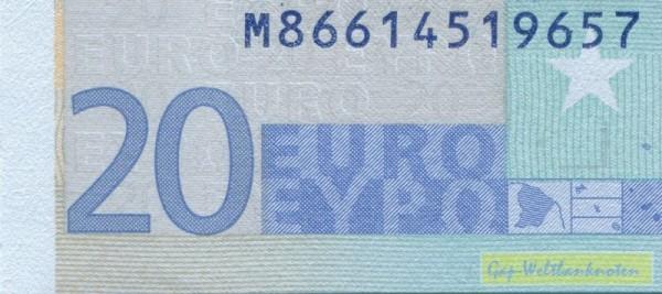 U021 - (Sie sehen ein Musterbild, nicht die angebotene Banknote)