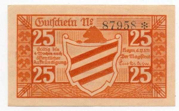 17.5.21, Druck orange, Wappen mit KN - (Sie sehen ein Musterbild, nicht die angebotene Banknote)