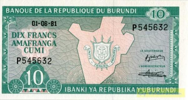 1.6.81 - (Sie sehen ein Musterbild, nicht die angebotene Banknote)