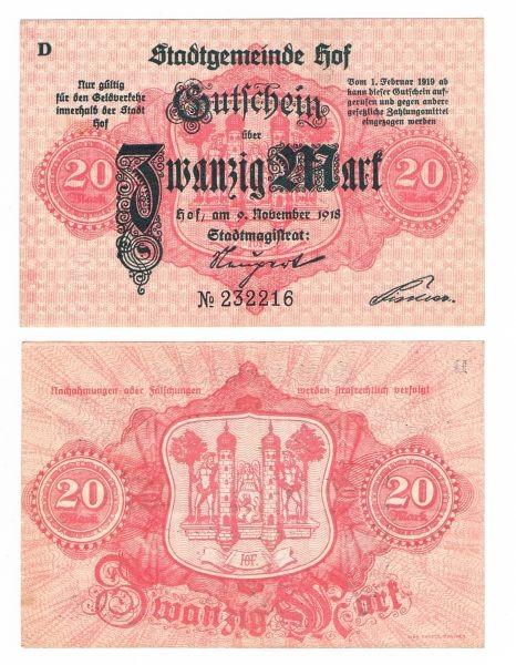 9.11.18, D - (Sie sehen ein Musterbild, nicht die angebotene Banknote)