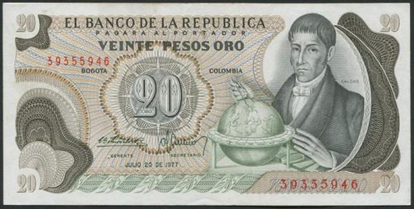 20.7.77 - (Sie sehen ein Musterbild, nicht die angebotene Banknote)