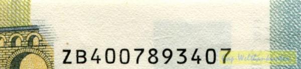 Z003,004,006 - (Sie sehen ein Musterbild, nicht die angebotene Banknote)