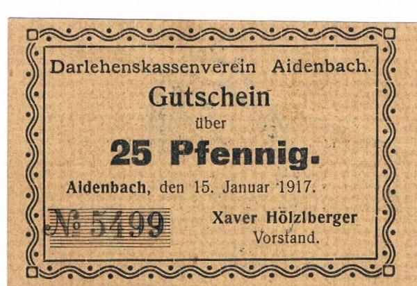 """15.1.17, Pap. graugelb, Dieser einger., seine mit kurzem """"s"""" - (Sie sehen ein Musterbild, nicht die angebotene Banknote)"""