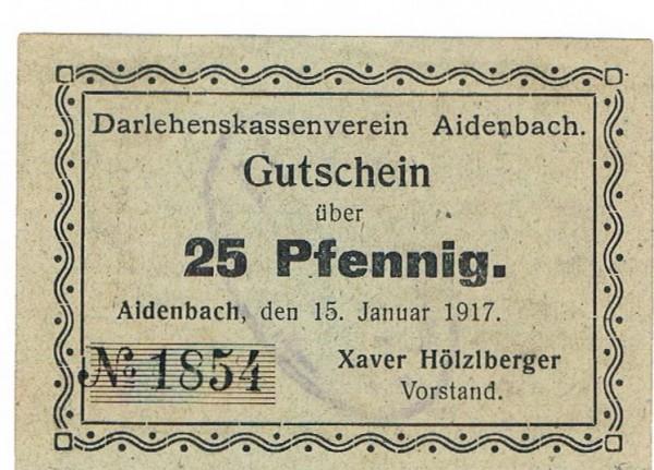"""15.1.17, Pap. graugrün, 1. Zeile endet """"vom"""" - (Sie sehen ein Musterbild, nicht die angebotene Banknote)"""