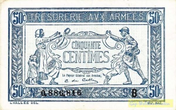 """1917 = """"2. Jahr"""", B - (Sie sehen ein Musterbild, nicht die angebotene Banknote)"""