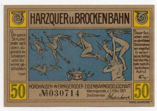 1.3.21, o.Wz., WZ der Vs. Grün und braun auf gelb - (Sie sehen ein Musterbild, nicht die angebotene Banknote)
