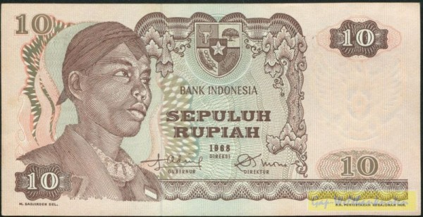 1968 - (Sie sehen ein Musterbild, nicht die angebotene Banknote)