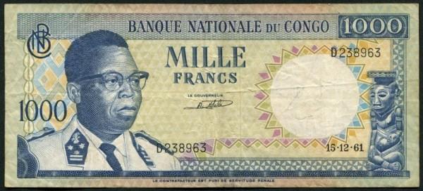 15.12.61 - (Sie sehen ein Musterbild, nicht die angebotene Banknote)