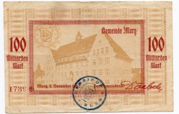 2.11.23, St. violett scharf - (Sie sehen ein Musterbild, nicht die angebotene Banknote)