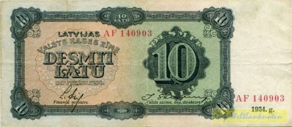 1934, Us. 13/11, XX KN - (Sie sehen ein Musterbild, nicht die angebotene Banknote)