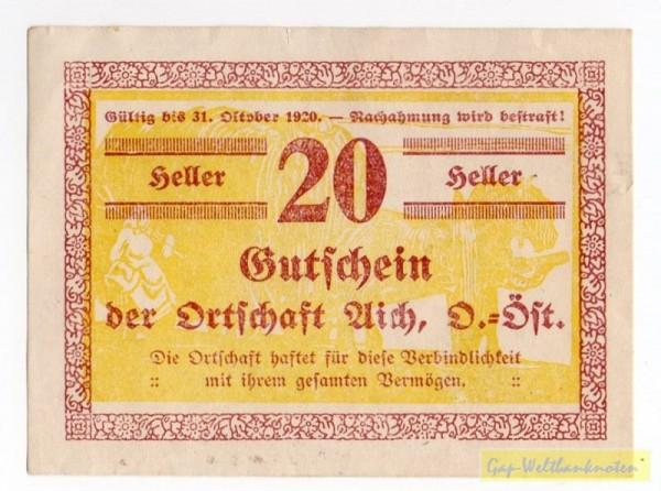 20h,  Heuwagen - (Sie sehen ein Musterbild, nicht die angebotene Banknote)