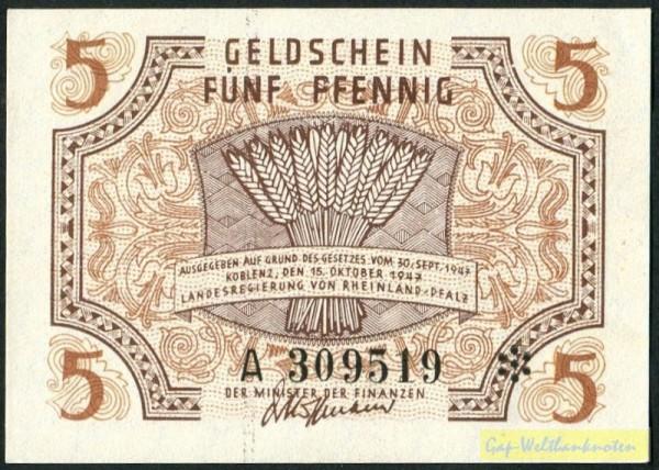 15.10.1947 - (Sie sehen ein Musterbild, nicht die angebotene Banknote)