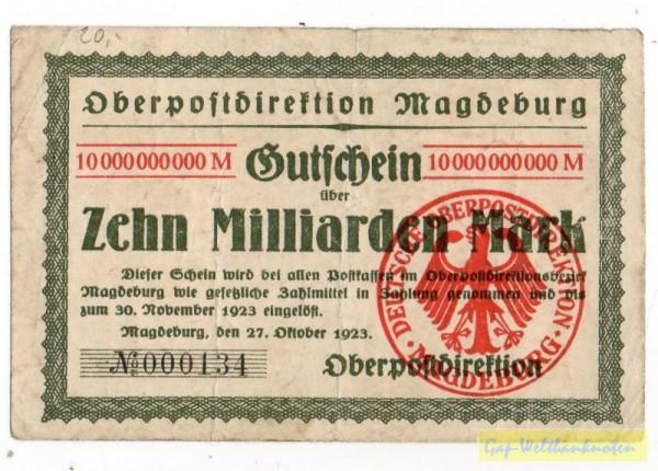 27.10.23 - (Sie sehen ein Musterbild, nicht die angebotene Banknote)