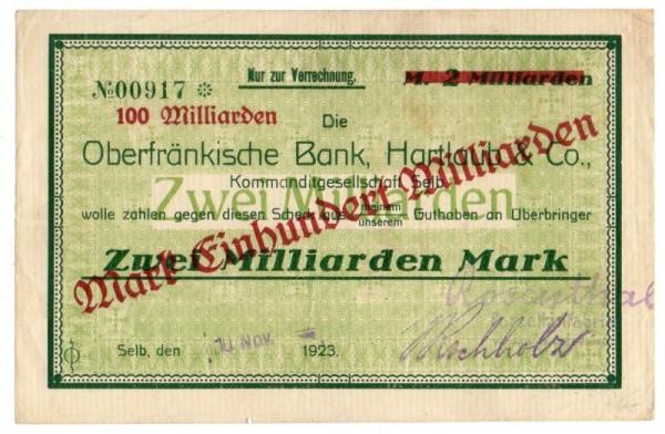 10.11.23, Üdr auf 2 Mrd - (Sie sehen ein Musterbild, nicht die angebotene Banknote)