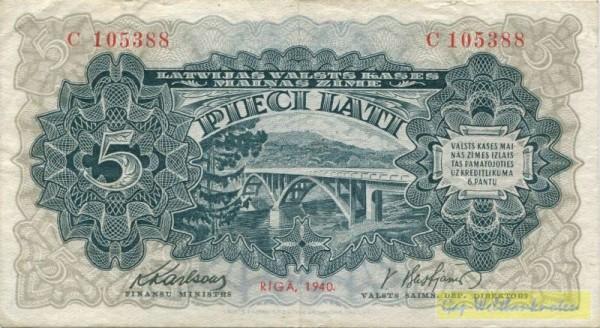 1940, Us. 1/3 - (Sie sehen ein Musterbild, nicht die angebotene Banknote)