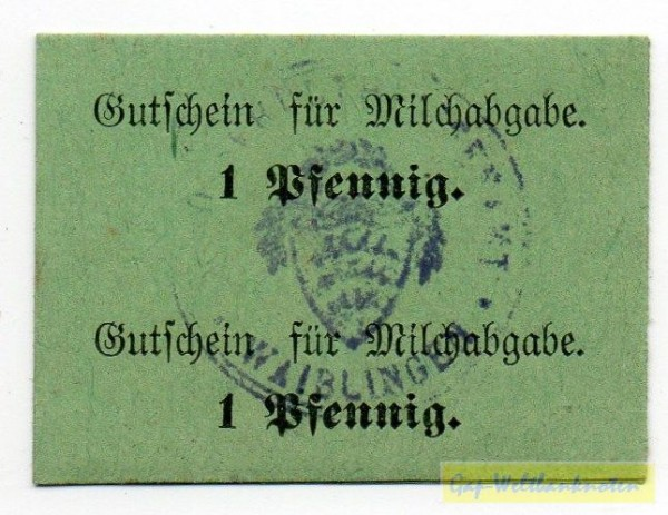 oD, Karton grün, Doppelstück - (Sie sehen ein Musterbild, nicht die angebotene Banknote)