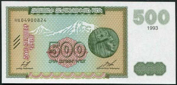 Wappen im Wz. im Umriss - (Sie sehen ein Musterbild, nicht die angebotene Banknote)