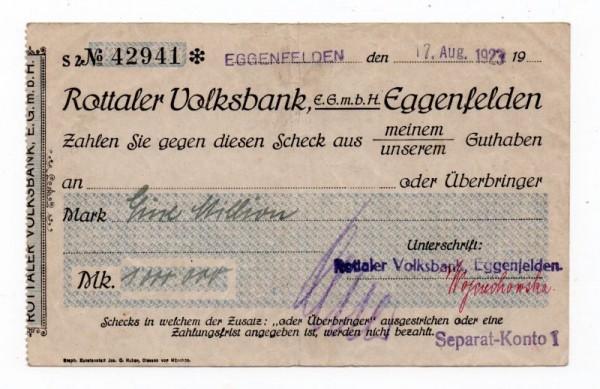 17.8.23 - (Sie sehen ein Musterbild, nicht die angebotene Banknote)