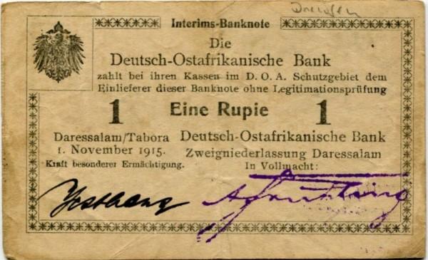 U, Wz. Drewsen, Westhaus - (Sie sehen ein Musterbild, nicht die angebotene Banknote)