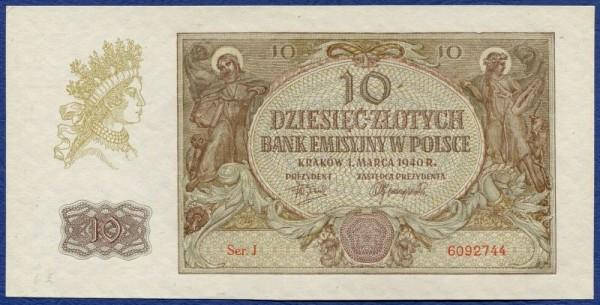 1.3.40, o. Punkt nach dem Serienbuchstaben - (Sie sehen ein Musterbild, nicht die angebotene Banknote)