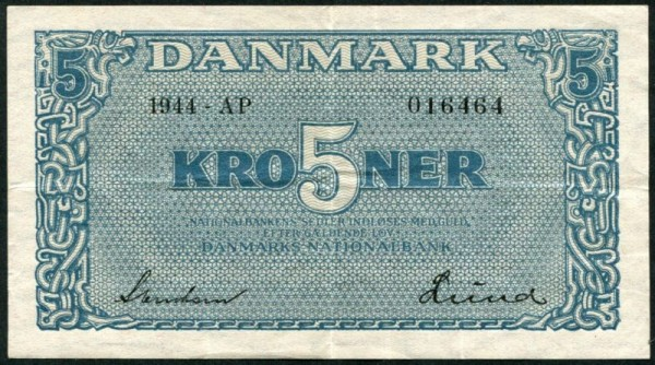 1944, AP - (Sie sehen ein Musterbild, nicht die angebotene Banknote)