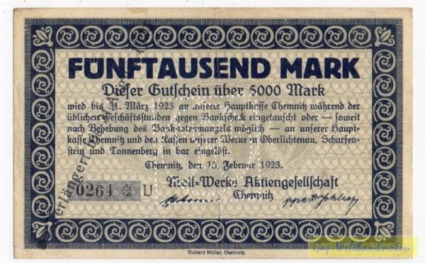 15.2.23, KN 8*, U - (Sie sehen ein Musterbild, nicht die angebotene Banknote)