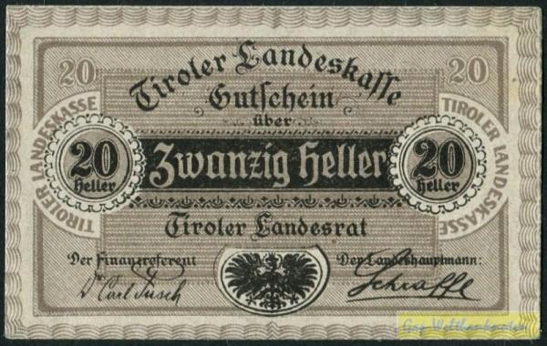 1.9.20 - (Sie sehen ein Musterbild, nicht die angebotene Banknote)