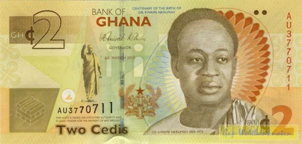 6.3.10, GA (Nkrumah) - (Sie sehen ein Musterbild, nicht die angebotene Banknote)