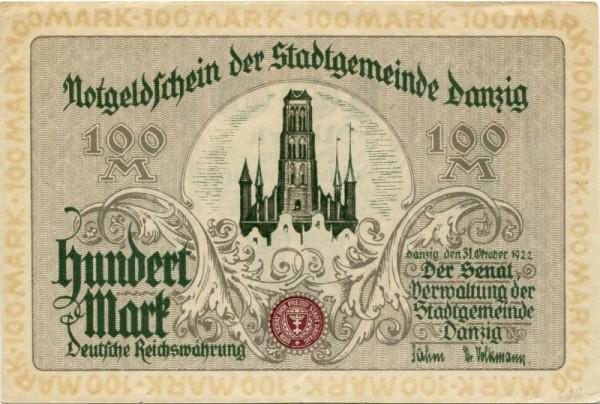 31.10.22 - (Sie sehen ein Musterbild, nicht die angebotene Banknote)