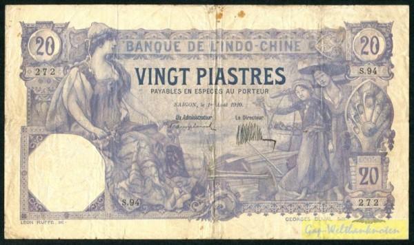 1.8.20, Us. 6 - (Sie sehen ein Musterbild, nicht die angebotene Banknote)