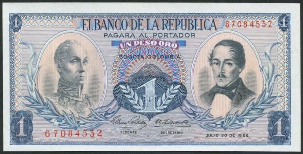 20.7.66, ohne Sf. - (Sie sehen ein Musterbild, nicht die angebotene Banknote)