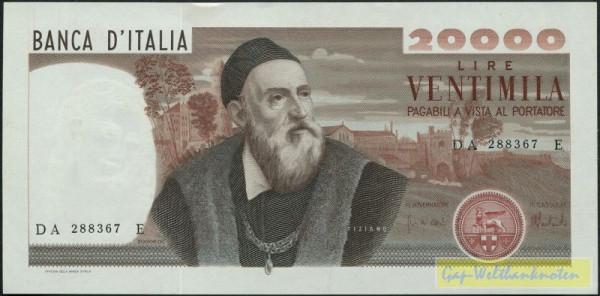 Carli/Barbarito, 21.2.75 - (Sie sehen ein Musterbild, nicht die angebotene Banknote)