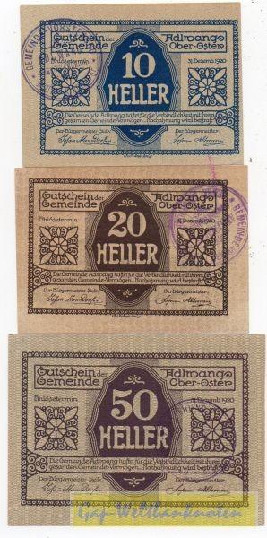3 W., Vs. Udr 1 Rs Udr 1, GSt 29mm - (Sie sehen ein Musterbild, nicht die angebotene Banknote)
