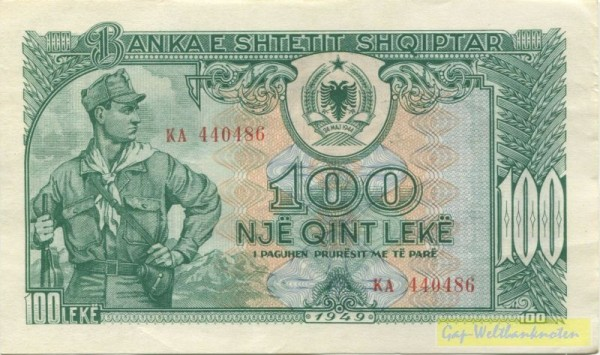 1949 - (Sie sehen ein Musterbild, nicht die angebotene Banknote)