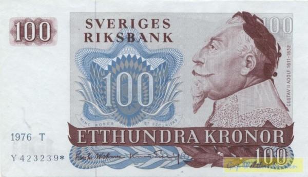 1976, mit *, Ersatznote - (Sie sehen ein Musterbild, nicht die angebotene Banknote)