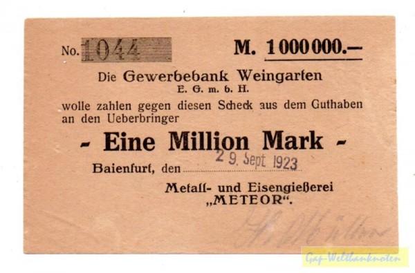 29.9.23 - (Sie sehen ein Musterbild, nicht die angebotene Banknote)