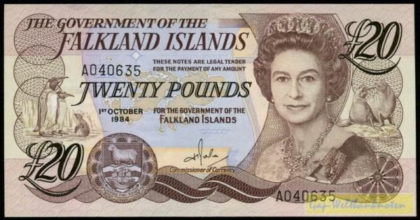 1.10.84 - (Sie sehen ein Musterbild, nicht die angebotene Banknote)