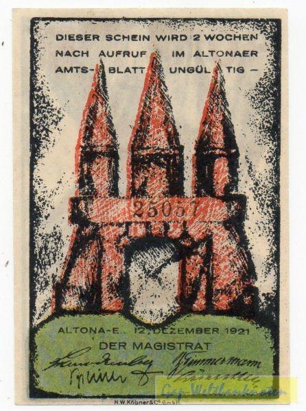12.12.21, KN 3,5 mm - (Sie sehen ein Musterbild, nicht die angebotene Banknote)