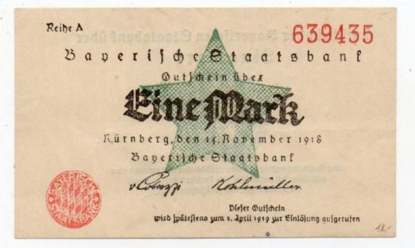 15.11.18, helle Rauten im Siegel schraffiert, Reihe A, B, C - (Sie sehen ein Musterbild, nicht die angebotene Banknote)