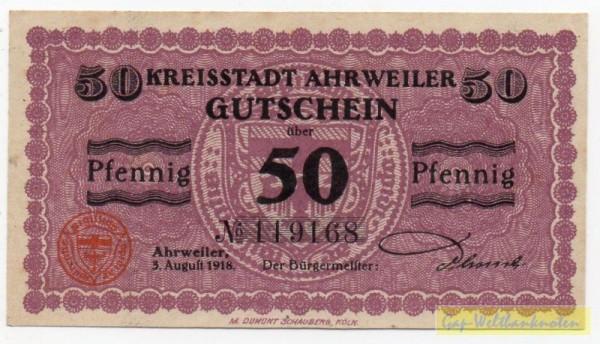 3.8.1918, Pap grau - (Sie sehen ein Musterbild, nicht die angebotene Banknote)