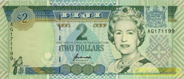 QEII älteres Porträt, XX KN - (Sie sehen ein Musterbild, nicht die angebotene Banknote)
