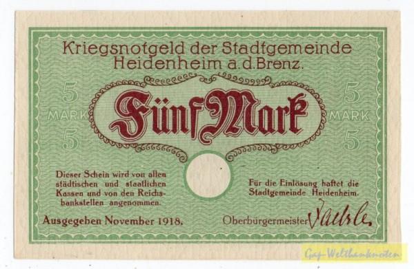 Nov. 18, KN 3,6 mm ohne PSt - (Sie sehen ein Musterbild, nicht die angebotene Banknote)