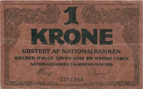 1914, KN 7st. - (Sie sehen ein Musterbild, nicht die angebotene Banknote)