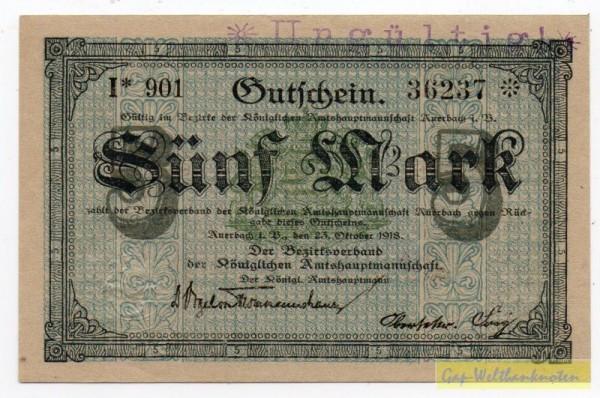 23.10.18, Wz Sechseckflechtwerk, KN 8* I, entw. - (Sie sehen ein Musterbild, nicht die angebotene Banknote)