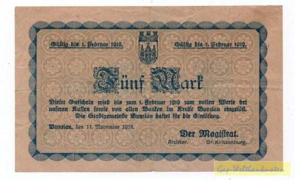 11.11.18, mit PSt, KN - (Sie sehen ein Musterbild, nicht die angebotene Banknote)